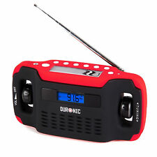 Wind-Up Solar Powered Radio Phone Charging Outlet Durable Site Work Hike Camping