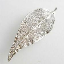 real evergreen leaf silver brooch / pendant - real leaf jewellery + box