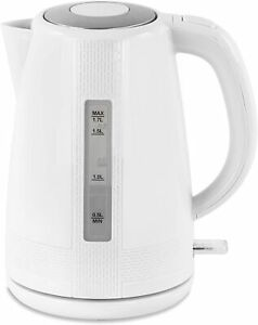Electric Cordless WHITE Kettle Dry Protection Tea Coffee 2200 watts 1.7 LITER.