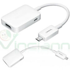 Adattatore MHL micro USB video audio per Samsung Galaxy Tab 3 10.1 HDMI HDTV AT1