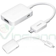Adattatore cavo MHL micro USB video audio per Galaxy Tab s2 9.7 T810 HDMI HDTV