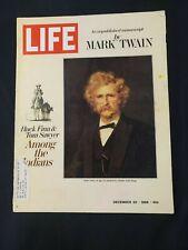 1968 DECEMBER 20 LIFE MAGAZINE *MARK TWAIN-UNPUBLISHED MANUSCRIPT/MOON TRIP* AS
