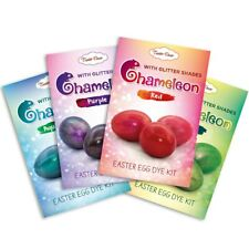 SET of 4 Kits, Chameleons, Easter Egg Dye Kits With Glitter Shades