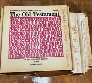 Complete Holy Bible -Audio Book - Vinyl Records Set - Braille Label Talking KJV