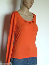 Top Haut 123 Orange Manches Longues Taille 34/36 TBE