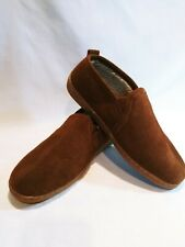 Minnetonka Mens Slide On Loafer Moccasin Shoes Size 10 Brown  Bed Slippers