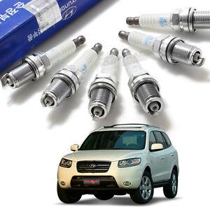 OEM Parts Engine Ignition Spark Plug 27410-23700 6P for HYUNDAI 07 - 09 Santa Fe
