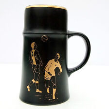 Vintage Retro Royal Worcester Palissy Black Mug Tankard Soccer Football
