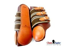 Classic Equine Protective Leather Splint Boots Medium Top Tier Quality New