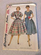 Simplicity 3859 Sewing Pattern, Vintage UNCUT, Misses' Dress, Size 14, Bust 32