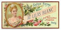 ANUNCIO DE PUBLICIDAD DE JABÓN SAVON EXTRA - AU LILAS BLANC - PARIS   170x81mm