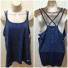 Nike Dri-Fit Womens Palm Green/Blue XL Running Knit Tank $65 NWT #831496-387