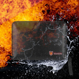Fireproof Waterproof Safe Document Bags A4 Size File Organizer File Folder I7Y1