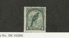 New Zealand, Postage Stamp, #196 Mint HInged, WMK61, 1935 Bird, JFZ