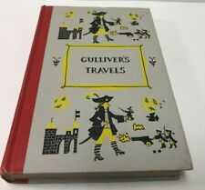 Vintage Gullivers Travels Jonathan Swift Junior Deluxe Edition Illustrated 1954