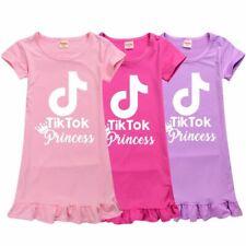 2020 TIK TOK Summer Home Pajamas Tops Dress Sleepwear Girls Birthday Lovely Gift