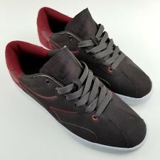 Diadora 1977 Men Shoe Sz 8 Red Suede Brown Sneakers Skateboard Casual Lace Up