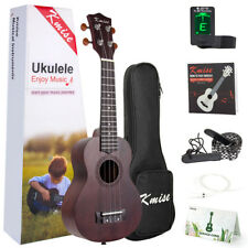 Kmise  Ukulele Soprano Mahogany Ukelele  Beginner Uke kit with Gig Bag 21 inch