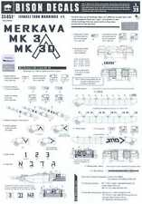 Bison Decals 1/35 ISRAELI TANK MARKINGS #1 MERKAVA Mk-3 & M-3D TANKS