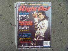 MINT RIGHT ON! MAGAZINE MICHAEL JACKSON KING OF POP SPECIAL COMMEMORATIVE ISSUE