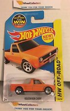 Volkswagen Caddy #124 * Orange * 2015 Hot Wheels * A23
