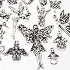 Lot mélange de Pendentifs Breloques en Métal Thème Anges 90 pcs Style Tibétain