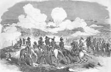 UKRAINE. Shelling Sevastopol-Gen Sir De Lacy Evans, antique print, 1854