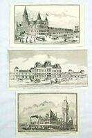 1887 Chicago Illinois Railroad Station Depots Rail Advertisement AD