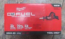 New Milwaukee Fuel 2520-20 12V Volt M12 Brushless Hackzall Reciprocating Sawzall