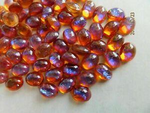 Dragons Breath OVAL Fire Opal Alexandrite Iris 18x13mm Cabochon Glass 1 piece