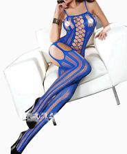 BODYSTOCKINGS LINGERIE BLEU 38 40 42 44 SEXY NUISETTE WOMAN BLUE UNDERWEAR FILET