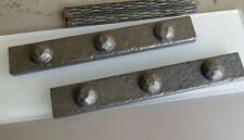 pewter hammered metalic metal look listello border tile cigar tiles $13.99