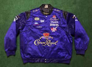 VTG Crown Royal Liquor Whiskey Racing NASCAR Nextel Jacket Adult Sz 4XL RARE