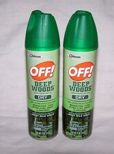 OFF! 2 Pk. Deep Woods Dry Insect Repellent  4 oz. Aerosol Spray    FREE SHIPPING