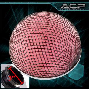 "3"" Mushroom Style Turbo Intake Red Microfoam / Black Mesh Cold Air Filter"