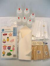 Candy Making Supplies Lot STICKS Snow Transfer Sheet BOTTLES Beach Summer MOLD