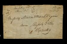 """Front Royal Va"" 1847 3pg George Blakemore to William Hogan in Russellville, KY"