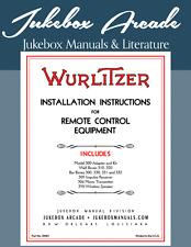 Wurlitzer Models 24, 24A, 500, 600, 700 and 800 Remote Control Equipment Install