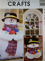 "McCall's 3312 Snowmen and Snocone Decorations 26"" to 36"" UNCUT Clean smoke free"