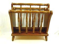Vintage Wood Magazine Rack Dowel Authentic Furniture Products El Segundo Ca.