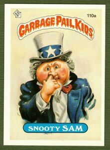 1986 GPK Garbage Pail Kids Series 3 Snooty Sam 110a Wanted Poster Teacher