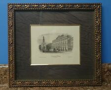 2 Vintage Prints of Somerset House & Buckingham Palace Framed & Matted