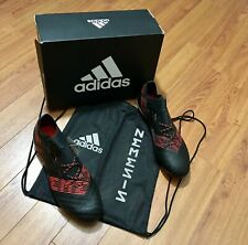 Adidas Nemeziz 17.1 Fg Mens Soccer Cleats with Bag Black Red Gold Cp8932 Size 11