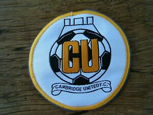 CAMBRIDGE UNITED FC SEW ON BADGE / PATCH - OFF A SHIRT ? - OLD CLOTH SEW ON