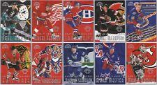 1996-97 LEAF SWEATERS AWAY HOCKEY INSERT CARDS - U PICK - FINISH YOUR SET / 5000