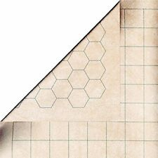 "Chessex Megamat - RPG Reversible Vinyl Mat 34.5"" X 48"" with 1.5"" Squares/Hexes"