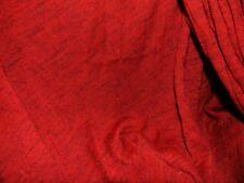 stoffa jersey maglia acrilico rosso melange nero 100x130 cm