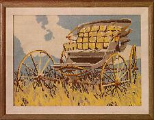 "Vintage Columbia Minerva ""Carriage"" Antique Buggy on Prairie Needlepoint Kit"