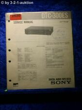 Sony Service Manual DTC300ES Digital Audio Tape Deck (#2620)