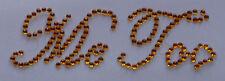 '' Me Too '' Gold Crystal Diamante ''Bling'' Shoe Applique Sticker